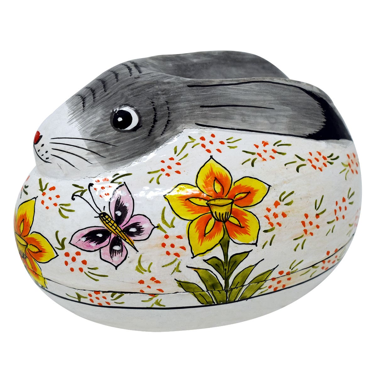 Papier Mache Spring Rabbit Shaped Box