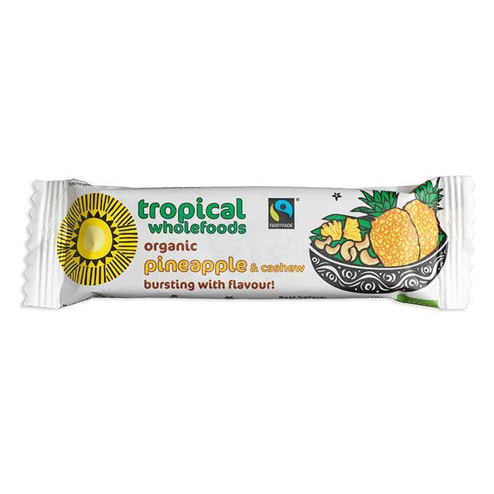 Tropical Wholefood Organic Pineapple & Cashew bar (24x40g) CASE