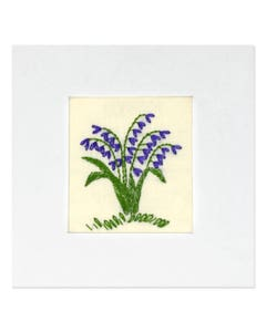 Handmade Bluebell Card