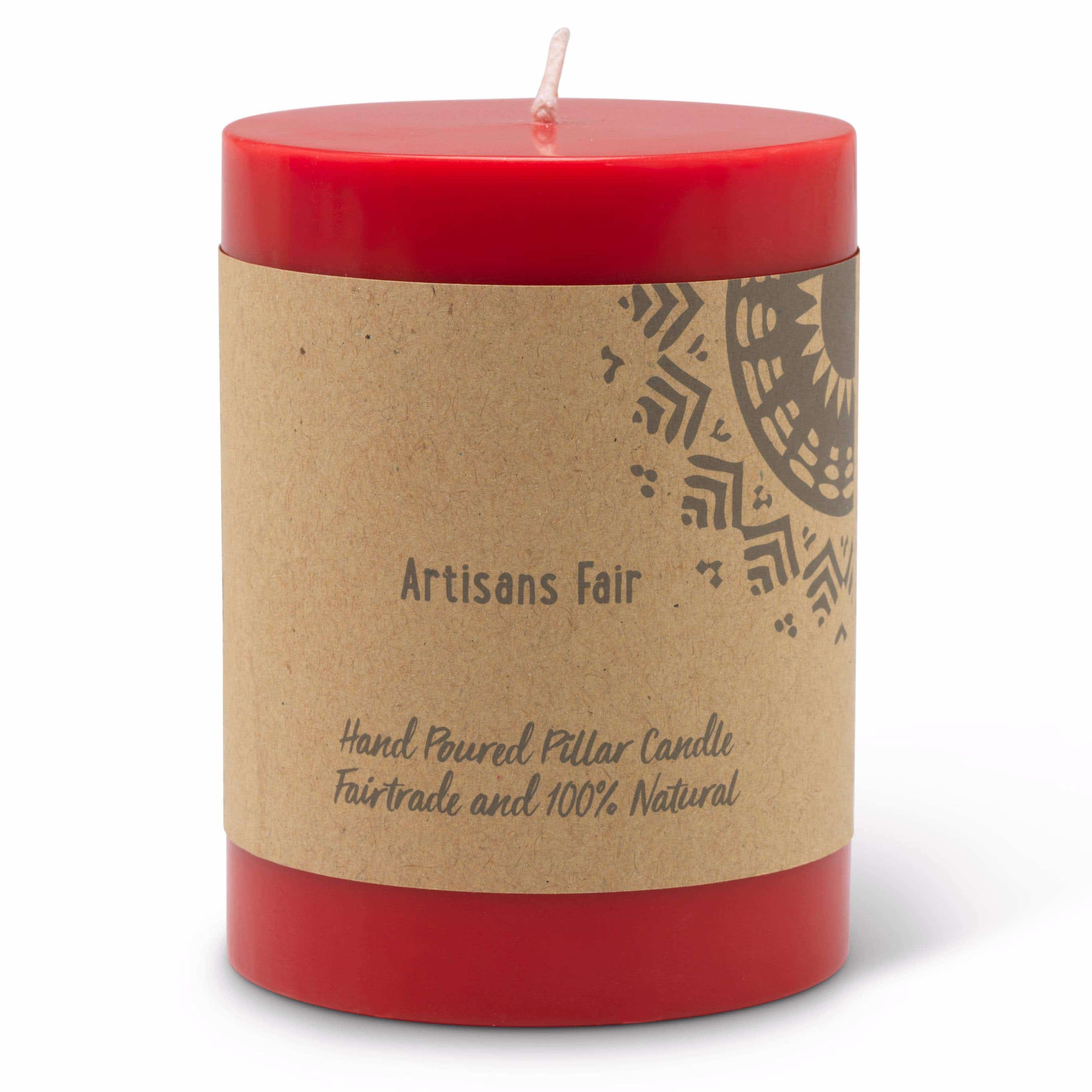 Red Pillar Candle - Small