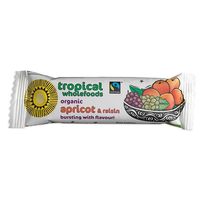 Tropical Wholefood Organic Apricot & Raisin bar (24x40g) CASE