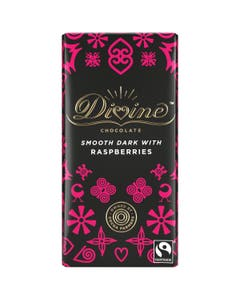 Divine Dark Chocolate with Raspberries (90g)