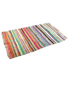 Handloomed Multicoloured and Recycled Rag Rug
