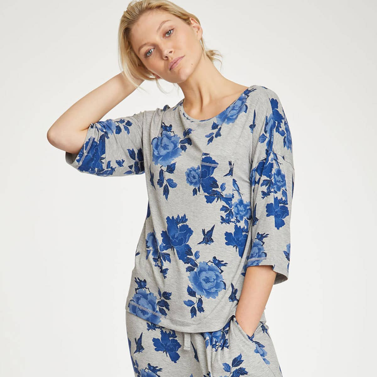 Thought Reanna Pj Women's Bamboo and Organic Blend Top Size Small