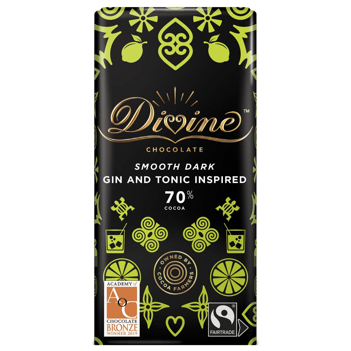 Divine Dark Chocolate with Lemon and Juniper (90g)