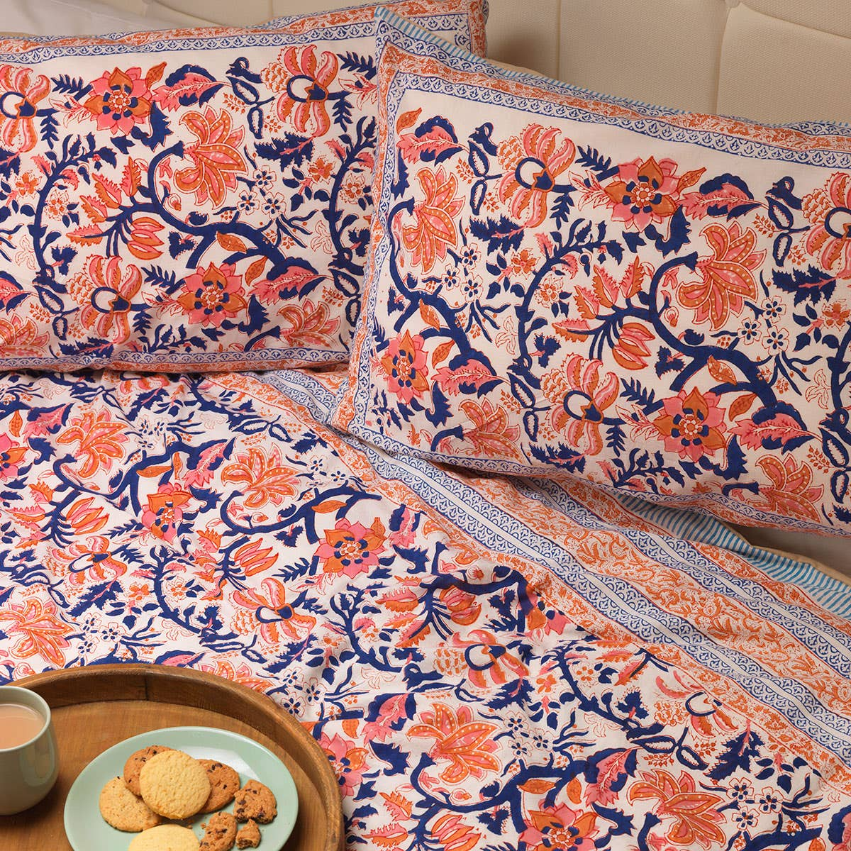Floral Trellis Duvet Set and Two Pillowcases (Kingsize)