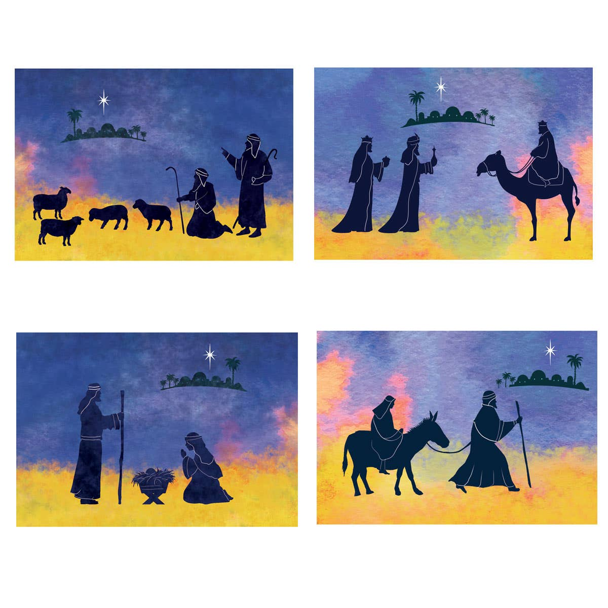 Silhouettes of Christmas Cards