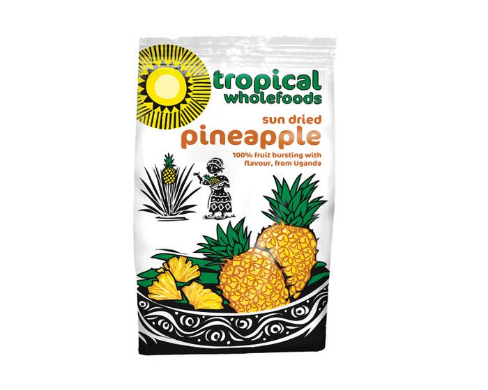 Tropical Wholefoods Organic Dried Pineapple (14x100g) CASE