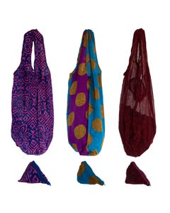 Recycled and Handmade Sari Bags