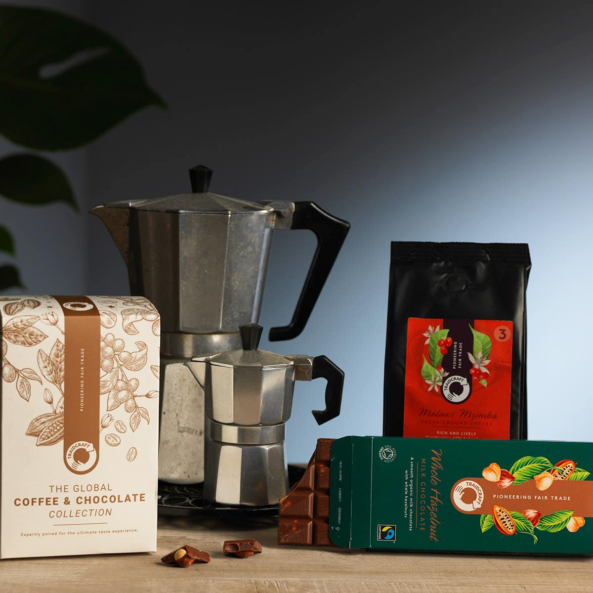 Traidcraft Malawi Coffee & Hazelnut Milk Chocolate Gift Box Set