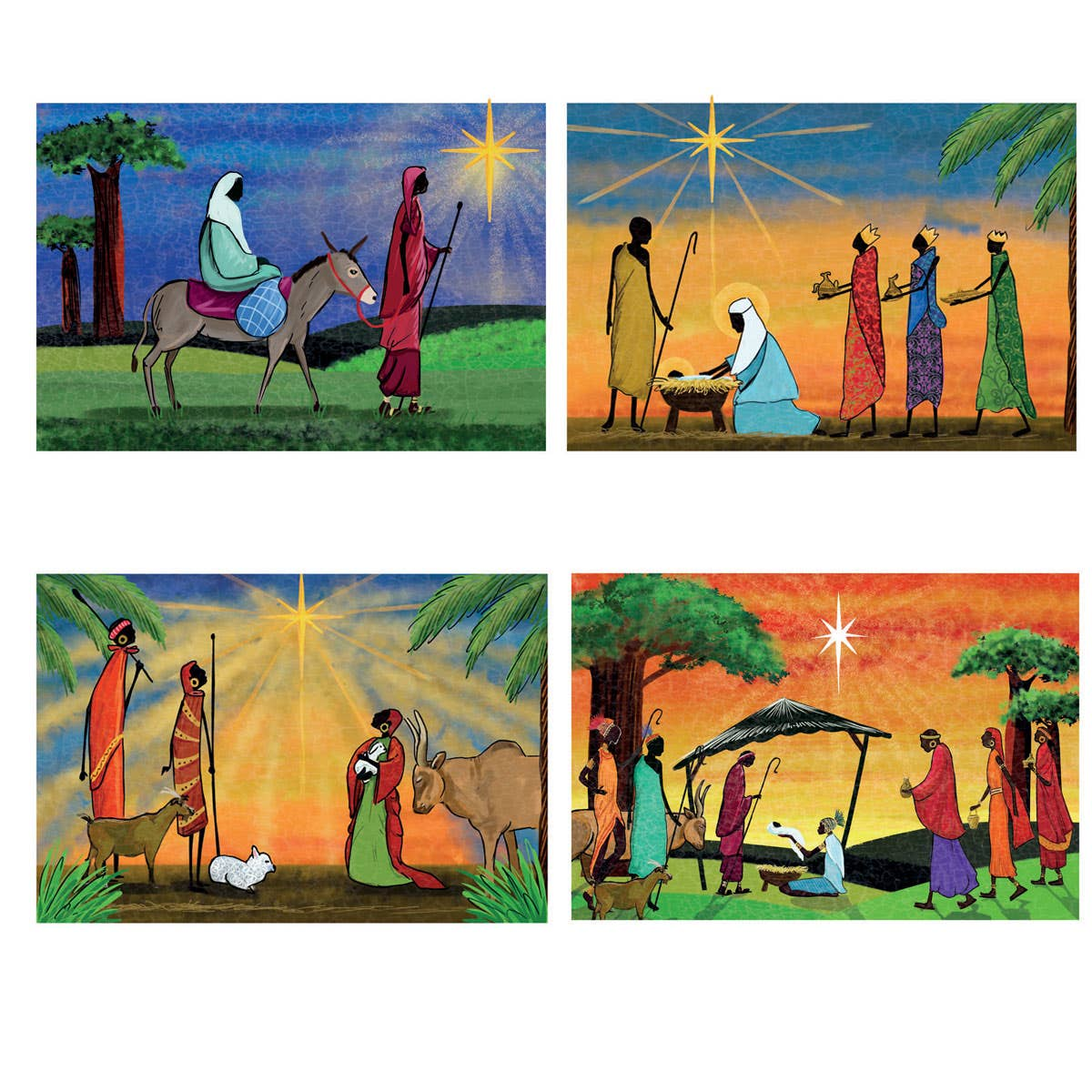 African Nativity Cards
