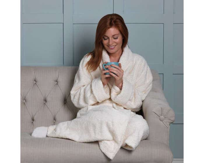 Natural Organic Cotton Dressing Gown - Small/Medium