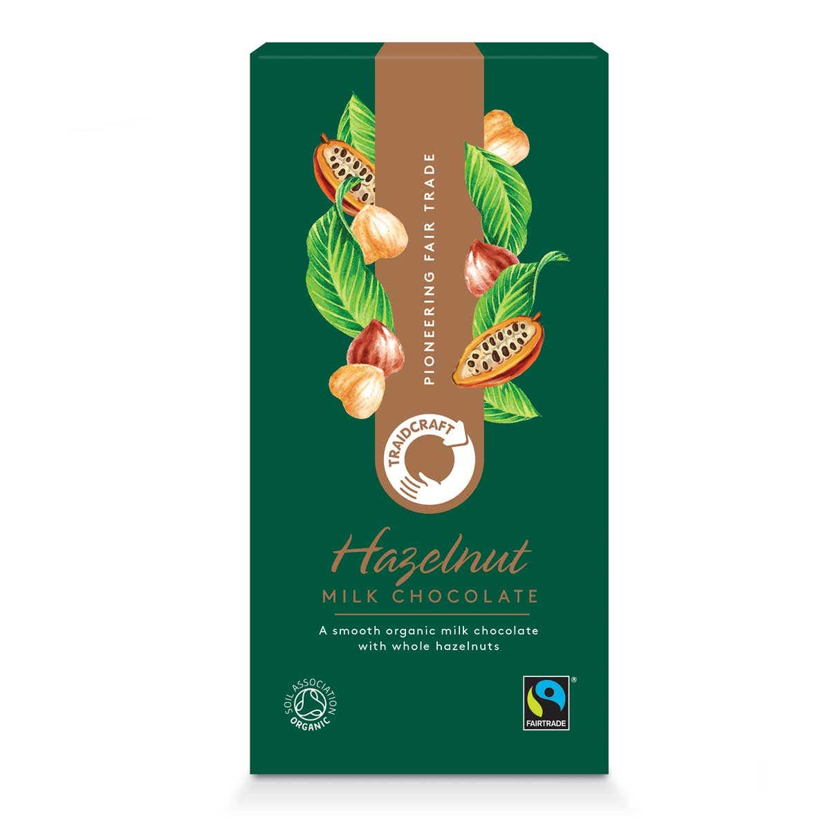 Traidcraft Organic Milk Chocolate with Hazelnuts (100g)