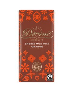 Divine Orange Milk Chocolate Display Box (15x90g)