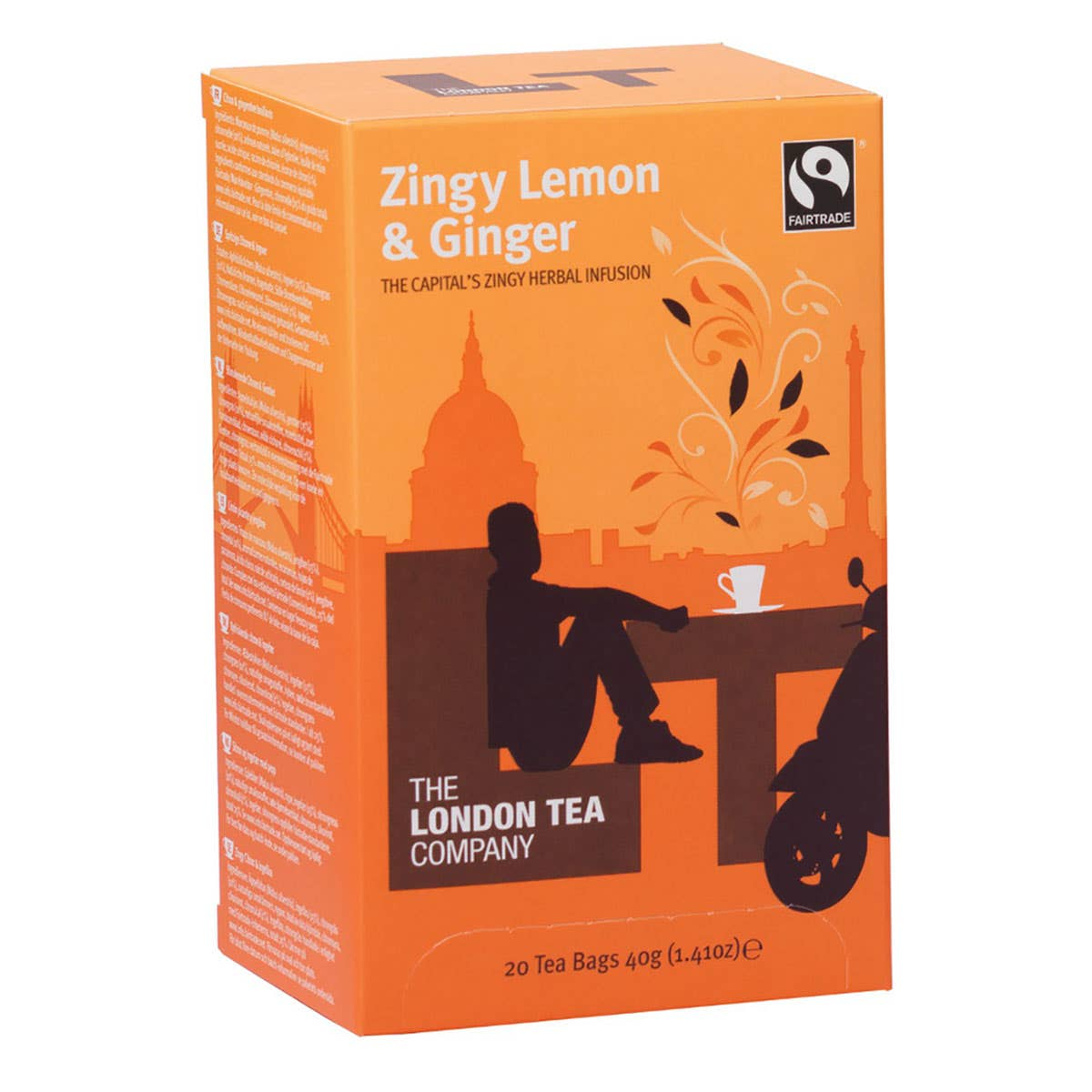 London Tea Company Zingy Lemon and Ginger Tea Bags (6x20 bags) CASE