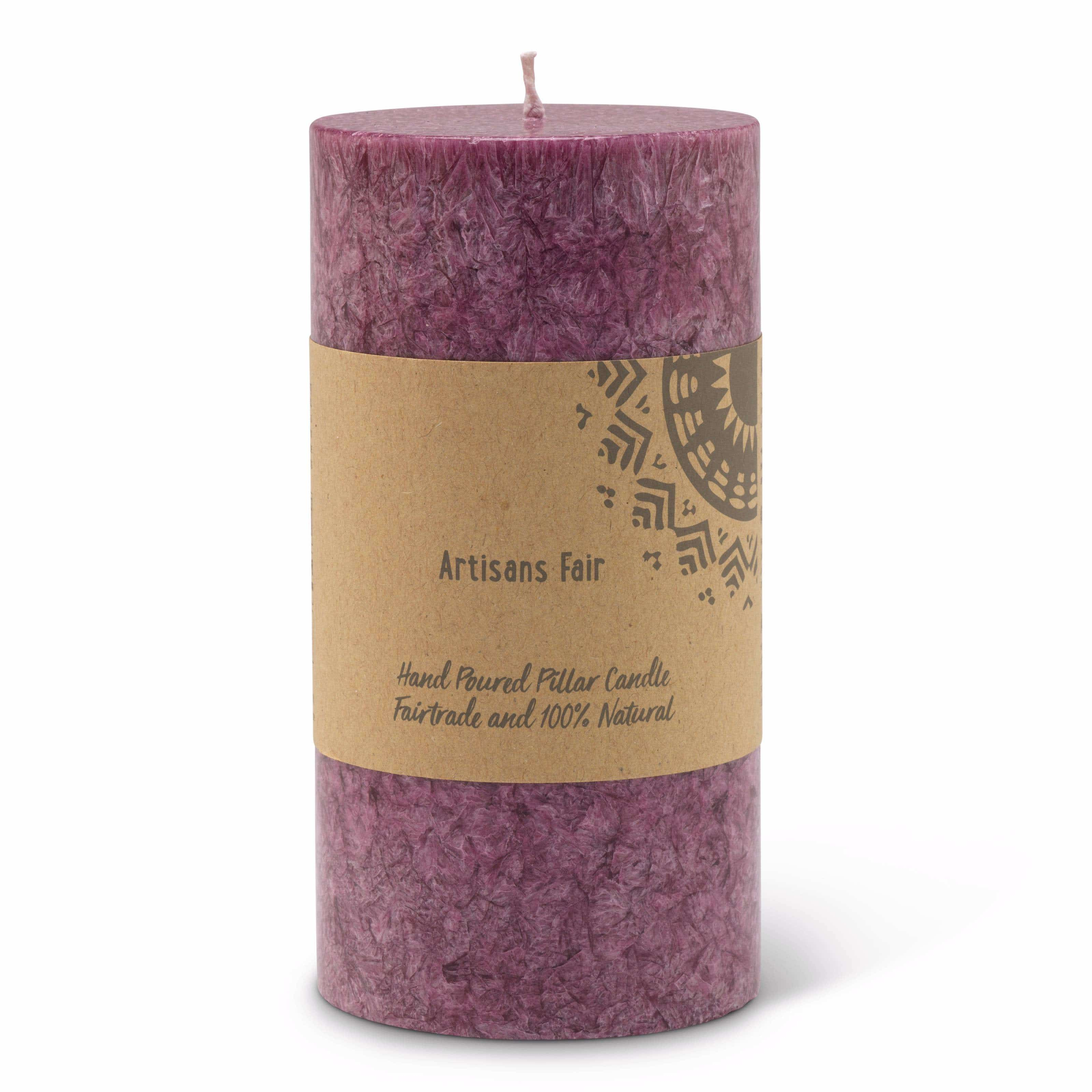 Heather Frosted Pillar Candle - Medium