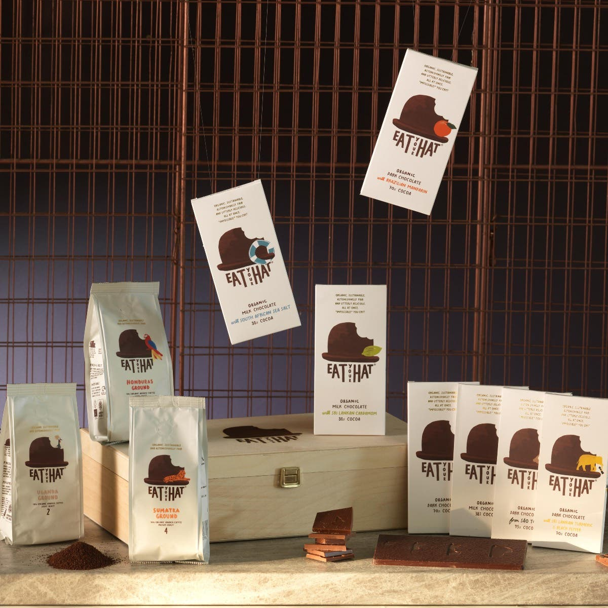 Short Shelf Life Eat Your Hat Ultimate Gift Set - Coffee & Chocolate