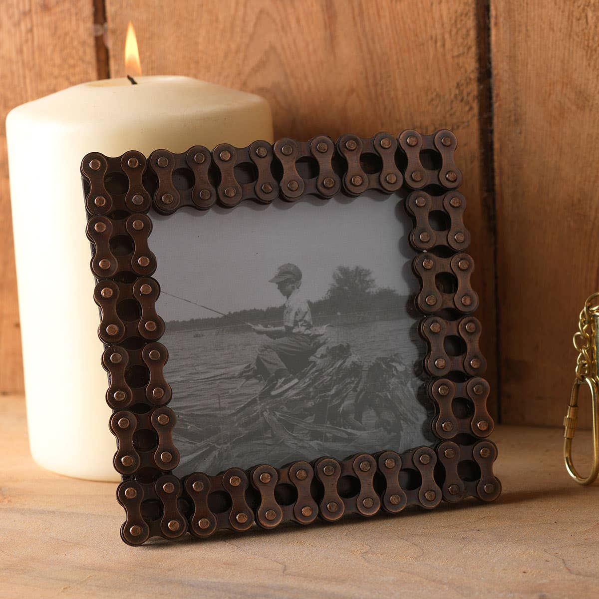 Recycled Bicycle Chain Photoframe