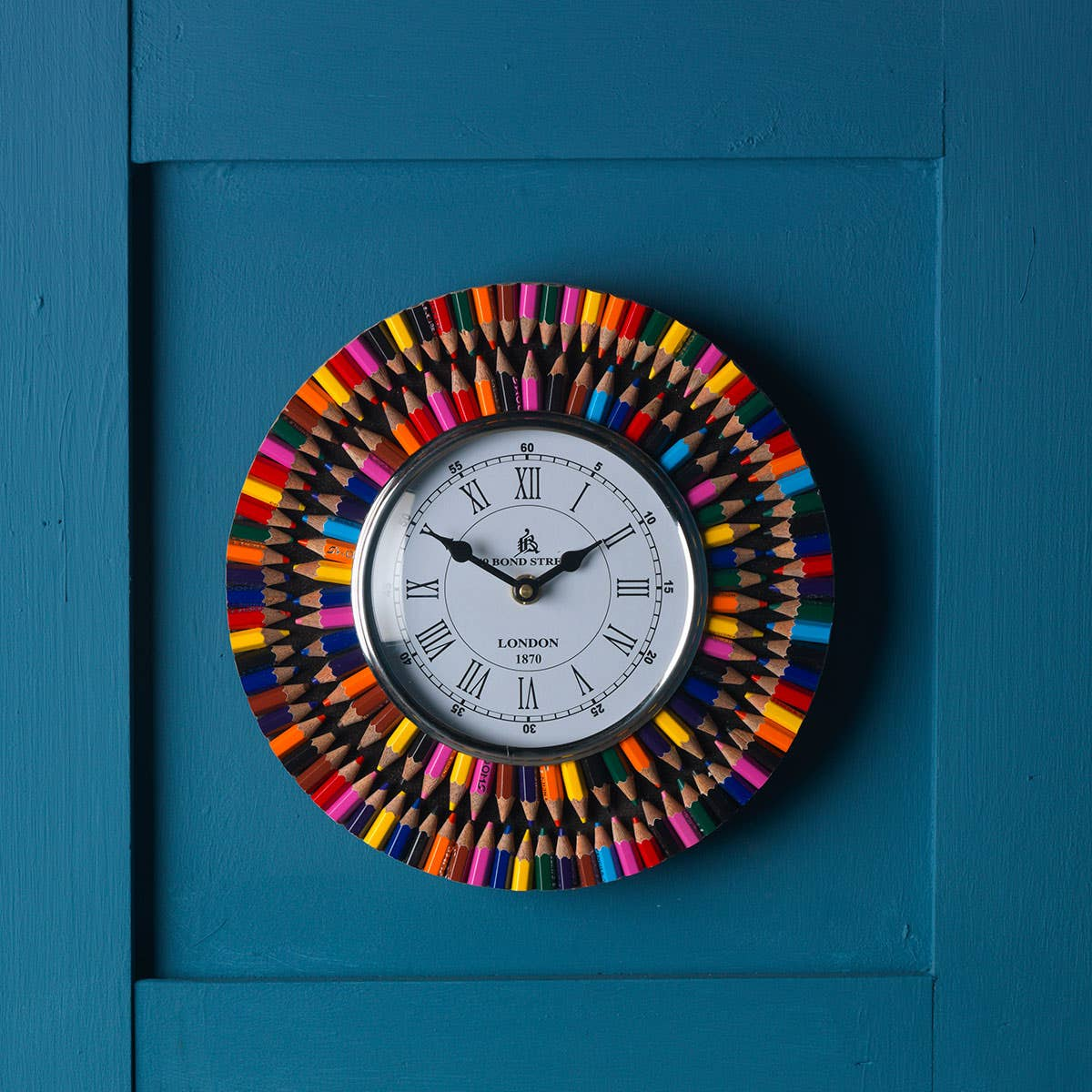 Recycled Crayons Clock
