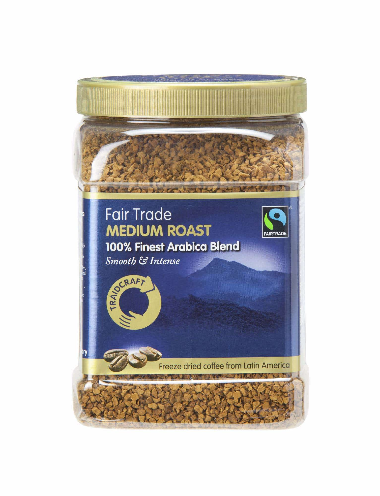 Traidcraft Medium Roast Freeze Dried Coffee (6x450g) CASE