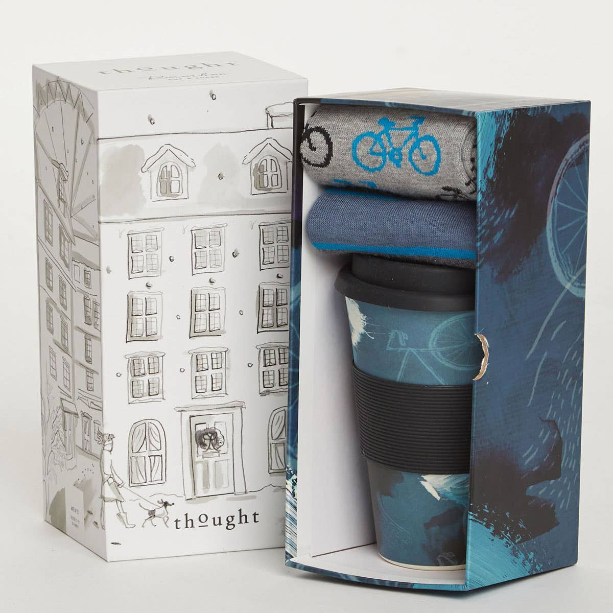 Thought Cycler Bamboo Cup & Socks Gift Pack