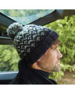 Men's 100% Wool Cliften Charcoal Bobble Hat