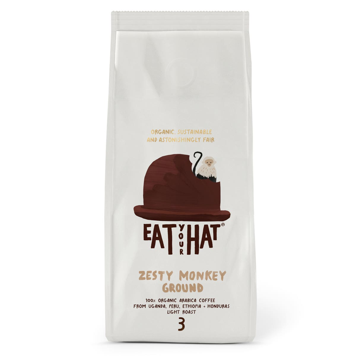 Eat Your Hat Zesty Monkey Ground Coffee (6x200g) CASE