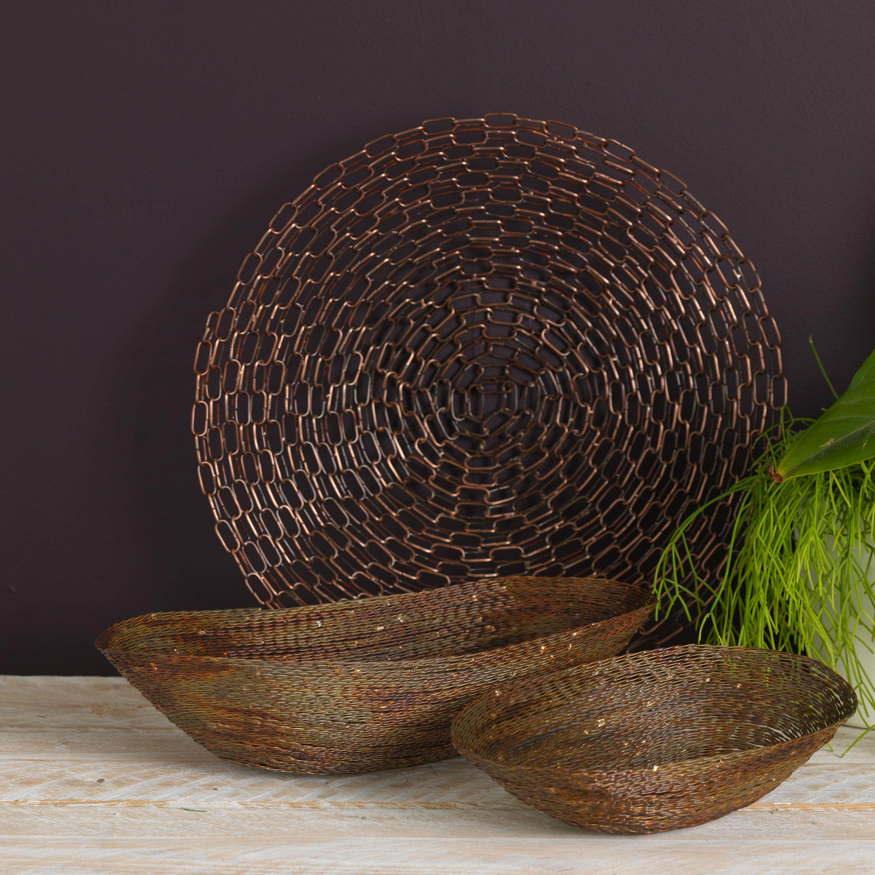 Rustic Antiqued Wire Bowls