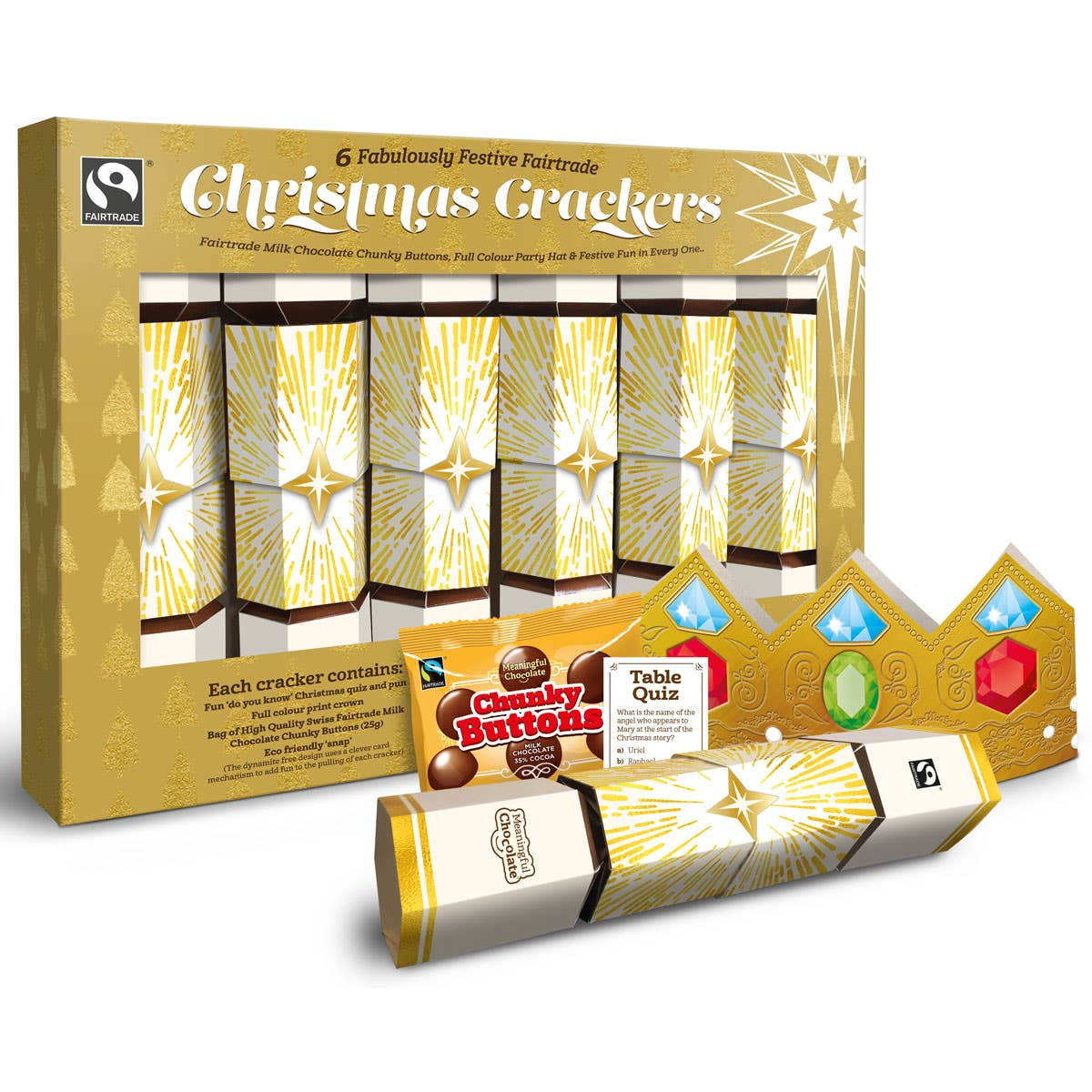 Meaningful Chocolate Company Christmas Cracker Box (6 boxes) CASE