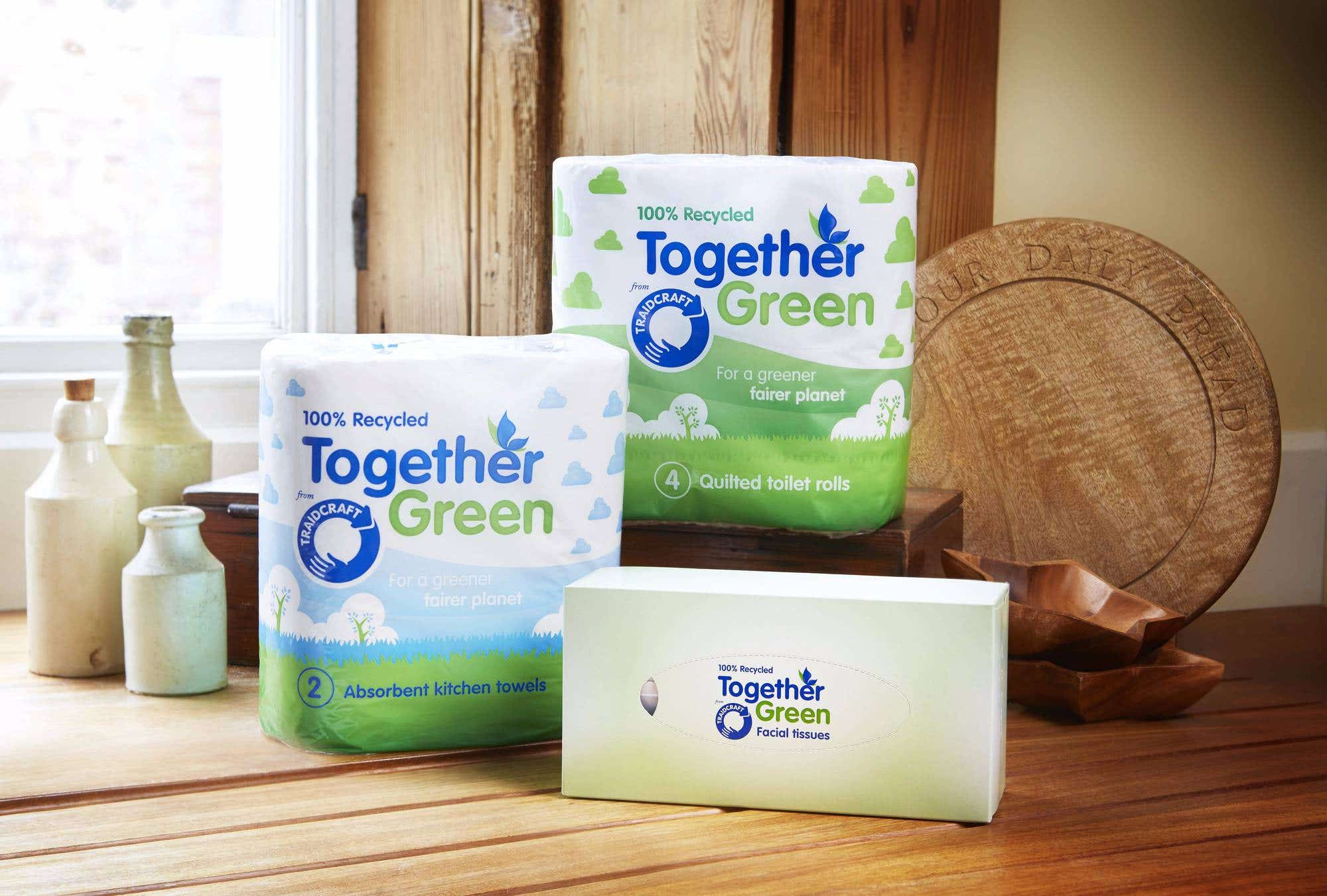 Together Green Recycled Facial Tissues (24 boxes) CASE
