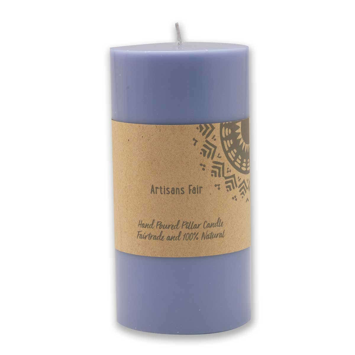 Soft Blue Pillar Candle - Medium