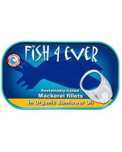 Fish 4 Ever Mackerel Fillets in Organic Sunflower Oil (120g)