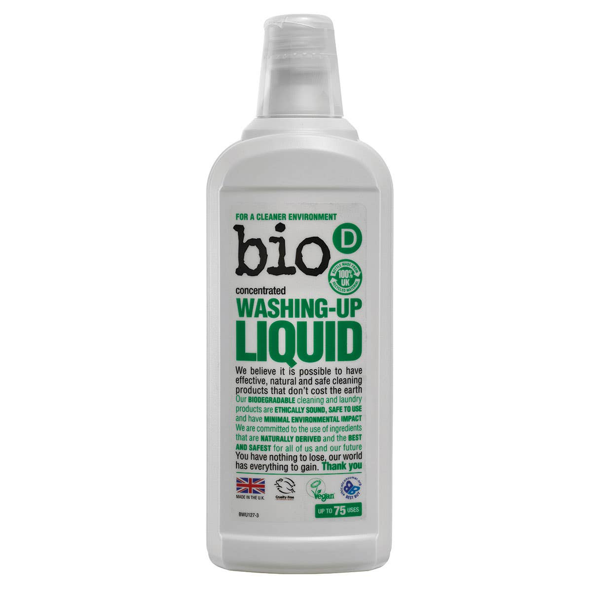 Bio-D Hypoallergenic Washing-Up Liquid (750mls) SINGLE