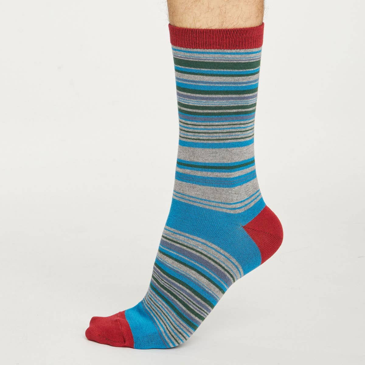 Thought Men's Lauritz Stripe Bamboo & Organic Cotton Blend Socks