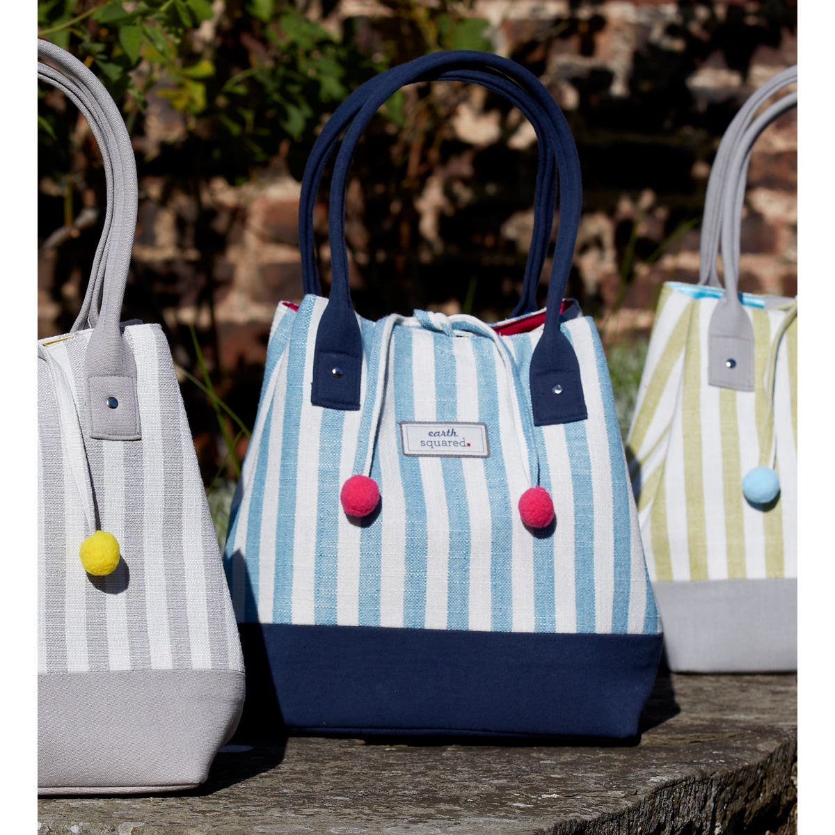 Blue Stripe Tote Bag
