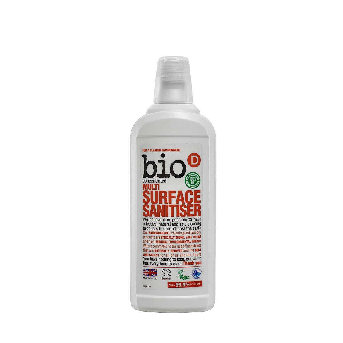 Bio-D Multi Surface Sanitiser (750ml) CASE