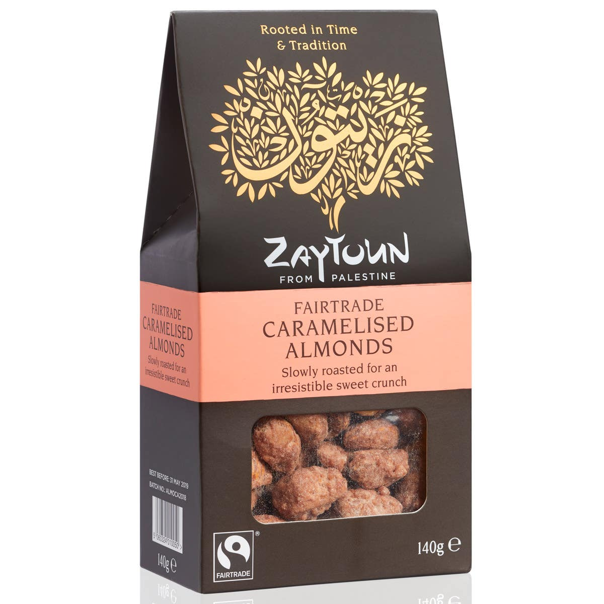 Zaytoun Caramelised Almonds (6x140g) CASE