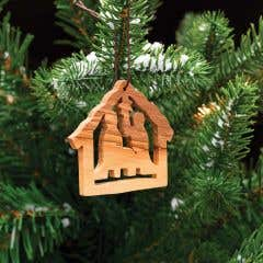 Hand-carved Olivewood Hanging Nativity Decoration