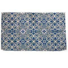 Recycled Blue Floral Rug