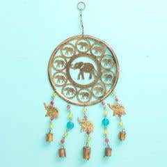 Elephants Windchime with Beads