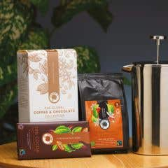 Traidcraft Congo Coffee with 70% Dark Chocolate Gift Set