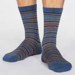 Thought Men's Bamboo Blend Jacob Stripe Socks