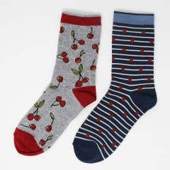 Thought Women's Bamboo Juliet Cherry Multi Sock Pack