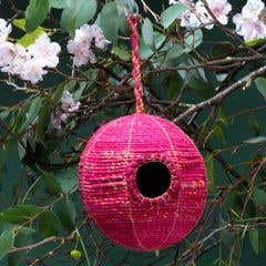 Recycled Sari Birdhouse Ball