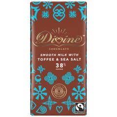 Divine Milk Chocolate with Toffee & Sea Salt Display Box (15x90g)