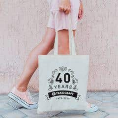 Traidcraft 40th Anniversary Natural Tote Bag