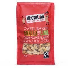 Liberation Chilli & Lime Cashews, Peanuts & Corn (90g)