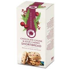 Traidcraft Chocolate Chunk & Sour Cherry Shortbread Rounds (160g)