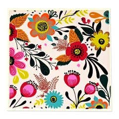 Silk Screen Printed Floral Cards - Set of 2