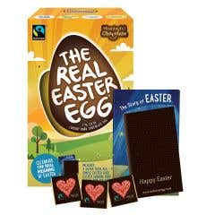 The Real Easter Egg Dark Chocolate with Chocolate Squares SINGLE